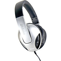 SYBA Multimedia Oblanc Cobra Silver Subwoofer Headphone W/In-line Microphone - Stereo - Mini-phone - Wired - 32 Ohm - 20 Hz - 20 kHz - Over-the-head - Binaural - Circumaural - 5.17 ft Cable - Silver, Black