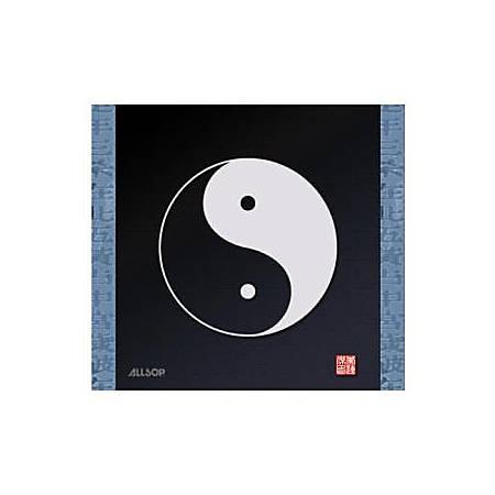 "Allsop® Soft Cloth Mouse Pad, 9.75"" x 10"", Yin-Yang Symbol"