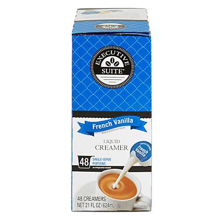 Executive Suite French Vanilla Liquid Coffee Creamer, 0.38 Oz, Box Of 192 Coffee Creamers
