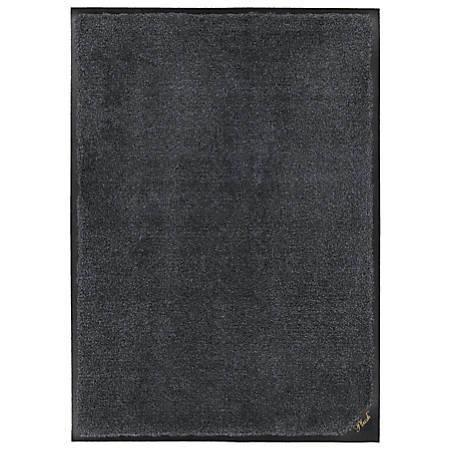 "M + A Matting Colorstar Plush Floor Mat, 48"" x 72"", Midnight Gray"