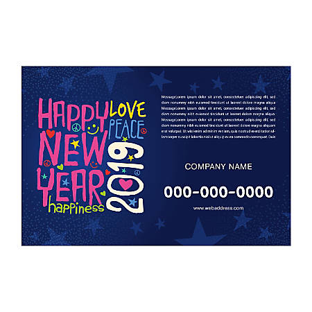 Single-Sided Flyers, Star Background, Horizontal