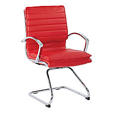 Guest Faux Leather Chair in Red