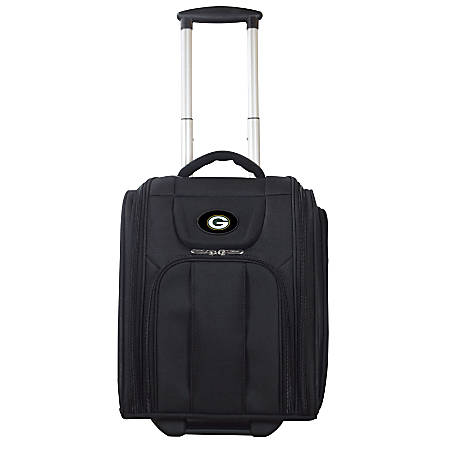 """Denco Sports Luggage Expandable Briefcase With 13"""" Laptop Pocket, Green Bay Packers, Black"""