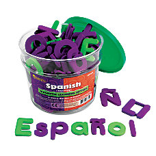 Learning Resources Foam Magnetic Spanish Letters