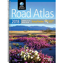 Rand McNally EasyFinder Mid Size Road Atlas 2018 fice Depot