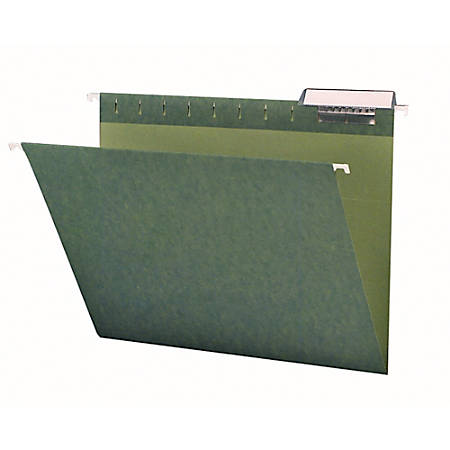 Smead® Premium-Quality Hanging Folders, 1/3 Cut, Letter Size, Standard Green, Pack Of 25