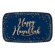 Amscan Hanukkah Rectangular Plastic Platters 11