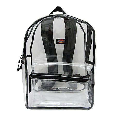 Dickies® Clear PVC Laptop Backpack, Black