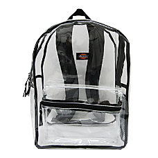 Dickies Clear PVC Laptop Backpack Black