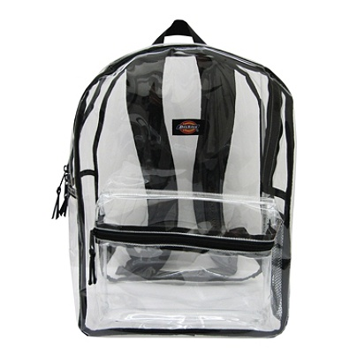 b85c6a1f79 Dickies Clear PVC Laptop Backpack Black - Office Depot