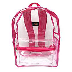 Dickies Clear PVC Backpack Pink
