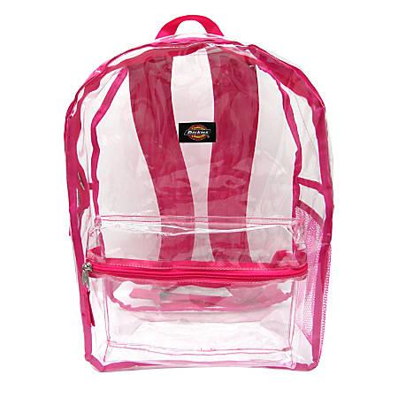 Dickies® Clear PVC Laptop Backpack, Pink