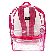 Dickies Clear PVC Laptop Backpack Pink