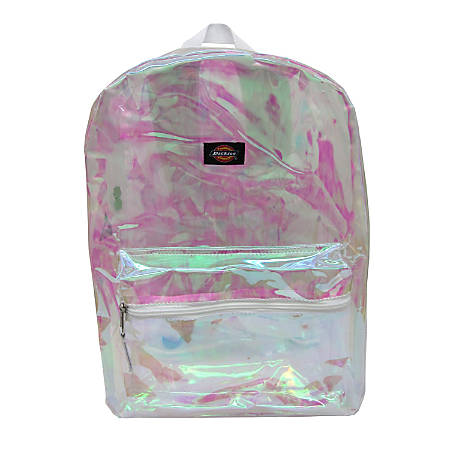 abf6473e93 Dickies Clear Laptop Backpack White - Office Depot