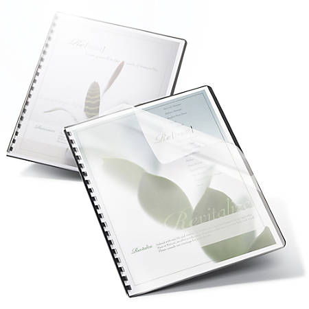 """Office Depot® Brand Binding Covers, 8 3/4"""" x 11 1/4"""", Frost, Pack Of 25"""