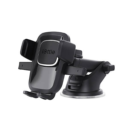iOttie Easy One-Touch 4 Dashboard/Windshield Phone Mount Holder, Black, HLCRIO125