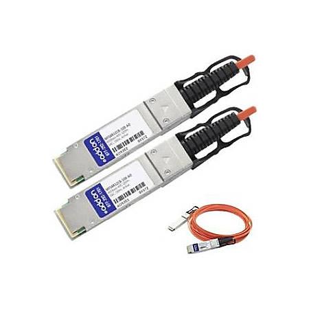 AddOn Mellanox MFS4R12CB-100 Compatible TAA Compliant 40GBase-AOC QSFP+ to QSFP+ Direct Attach Cable (850nm, MMF, 100m)