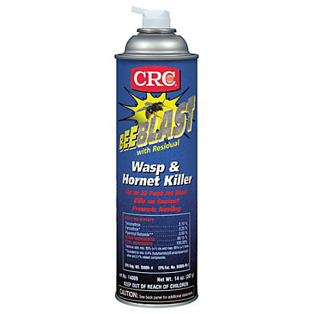 CRC Bee Blast™ Wasp And Hornet Spray, 20 Oz Aerosol Can, Pack Of 12 Cans