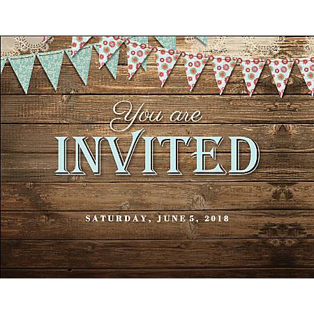 "Custom Wedding Invitations, 5 1/2"" x 4 1/4"", Bright White, Pack Of 10"