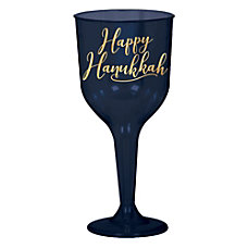 Amscan Hanukkah Plastic Wine Glasses 10