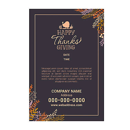 Adhesive Sign Template, Vertical, Turkey Design