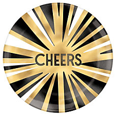 Amscan New Years Cheers Plastic Plates
