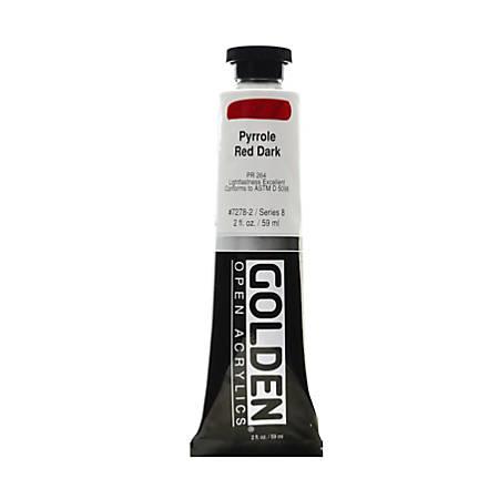 Golden OPEN Acrylic Paint, 2 Oz Tube, Pyrrole Red Dark
