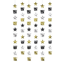 Amscan New Years Star String Decorations