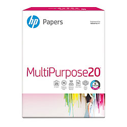 "HP Multi-Use Paper, Letter Size (8 1/2"" x 11""), 20 Lb, Ultra White, Ream Of 500 Sheets"