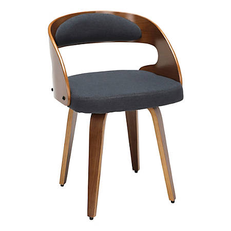 OFM 161 Collection Mid-Century Modern Dining Chair, Navy