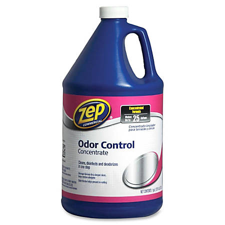 Zep Commercial Odor Control Concentrate - Concentrate Liquid - 1 gal (128 fl oz) - Fresh Scent - 4 / Carton - Blue