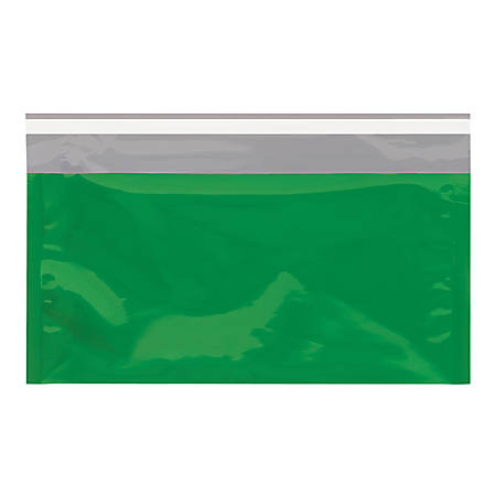 "Office Depot® Brand Metallic Glamour Mailers, 10-1/4"" x 6-1/4"", Green, Case Of 250 Mailers"