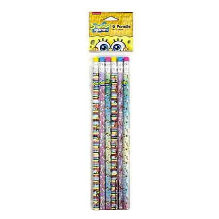 Nickelodeon SpongeBob Pencils, #2, 2.0 mm, Pack Of 6 Pencils