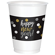 Amscan Happy New Year Plastic Cups