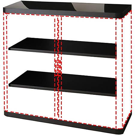 "Paperflow USA easyOffice 41"" Storage Cabinet, 3 Shelf, 43 5/16"" x 16 5/16"", Black"
