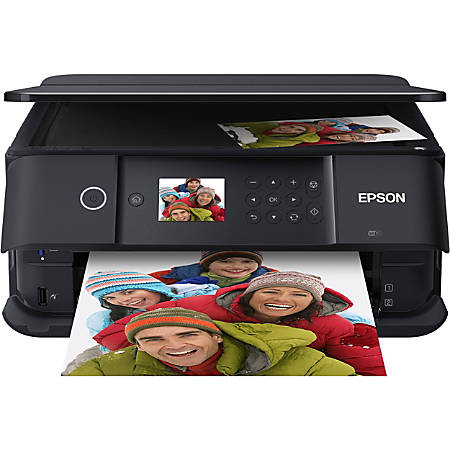 Epson® Expression® Premium XP-6100 Small-in-One® Wireless Color Inkjet All-In-One Printer, Copier, Scanner, C11CG97201