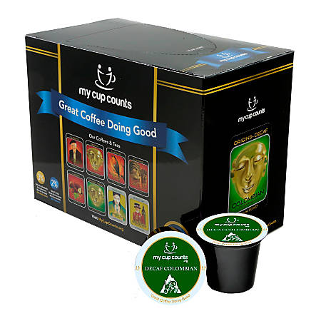 My Cup Counts K-Cup® Pods, Decaf Colombian, Pack Of 48 Pods