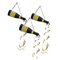 Amscan New Years Bottle Hanging Decorations