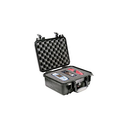 "Pelican 1400 Shipping Case with Foam - Internal Dimensions: 11.81"" Length x 8.87"" Width x 5.18"" Height - External Dimensions: 13.4"" Length x 11.6"" Width x 6"" Depth - 2.32 gal - Double Throw Latch Closure - Copolymer - Orange - For Military"