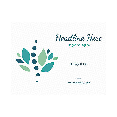 Custom Flyer, Horizontal, Stones And Leaves