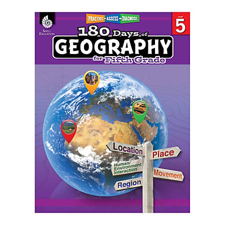 Shell Education 180 Days Of Geography, Grade 5