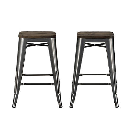 DHP Fusion Backless Counter Stool, Charcoal