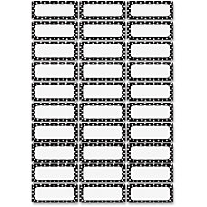 Ashley Dry Erase BlackWhite Dots Nameplate