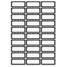 Ashley Dry Erase BW Dots Nameplate