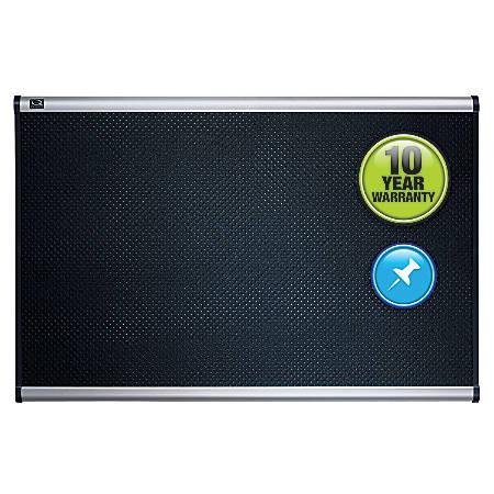 "Quartet® Prestige™ Select Black Embossed Foam Bulletin Board, 36""H x 48""W"