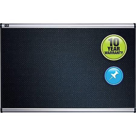 "Quartet® Prestige™ Select Black Embossed Foam Bulletin Board, 48""H x 72""W"