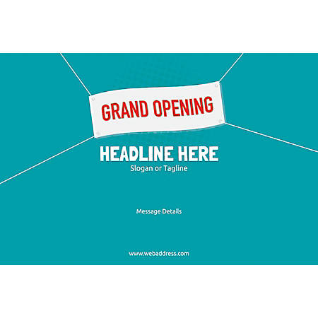 Custom Poster, Grand Opening Banner, Horizontal