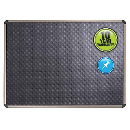 "Quartet® Euro™ Black Embossed Foam Board, 48""H x 72""W"