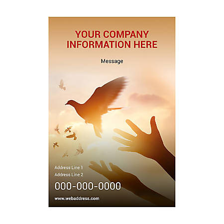 Adhesive Sign Template, Vertical, Free Bird
