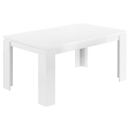 "Monarch Specialties Ellie Dining Table, 30-1/2""H x 59""W x 35-1/2""D, White"